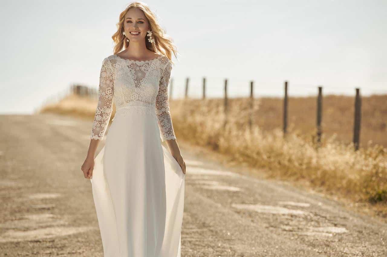 Vestidos de novia boho chic 2020